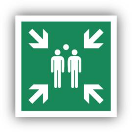 Stickers Verzamelplaats bij evacuatie (E007)