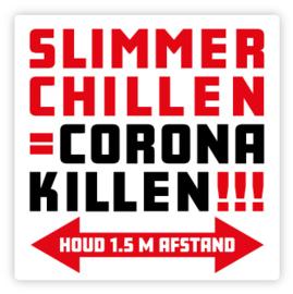Vloerstickers Slimmer Chillen = Corona Killen