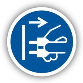 Stickers Voor het openen stekker uit stopcontact trekken (M006)