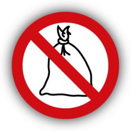 Stickers Verboden vuilniszakken / afvalzakken te plaatsen