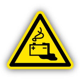 Stickers Gevaar door het laden van accu's (W026)