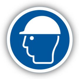 Stickers Veiligheidshelm verplicht (M014)