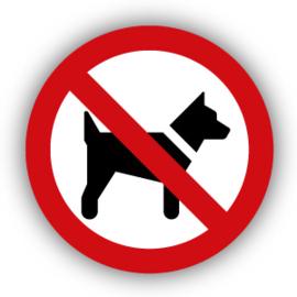 Stickers Dieren verboden (P021) (verboden voor honden)