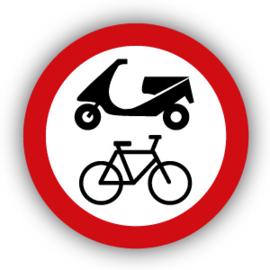 Stickers Verboden voor fietsen en scooters