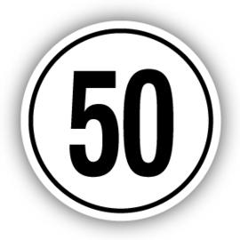 Tempostickers Maximaal 50 km per uur