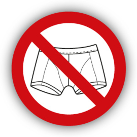 Stickers Verboden met boxershort - ondergoed