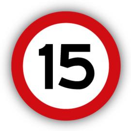 Stickers Maximaal 15 km per uur