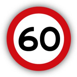 Stickers Maximaal 60 km per uur