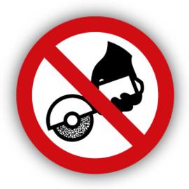 Stickers Verboden met de hand te slijpen (P034)