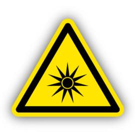Stickers Optische straling (W027)