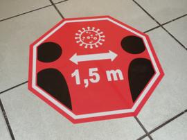 Vloerstickers Houd 1,5 meter afstand