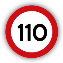 Stickers Maximaal 110 km per uur