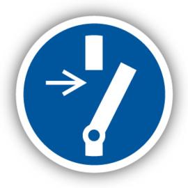 Stickers Vrijschakelen voor onderhoud of herstelling (M021)