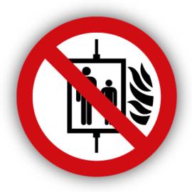 Stickers Verboden de lift te gebruiken bij brand (P020)