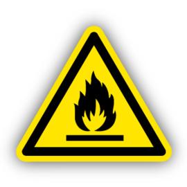 Stickers Ontvlambare stoffen (W021)