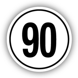 Tempostickers Maximaal 90 km per uur