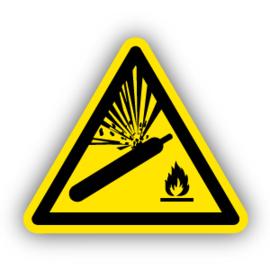 Stickers Gashouders onder druk (W029)