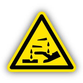 Stickers Bijtende stoffen (W023)