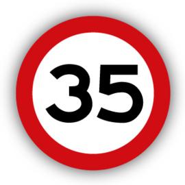 Stickers Maximaal 35 km per uur