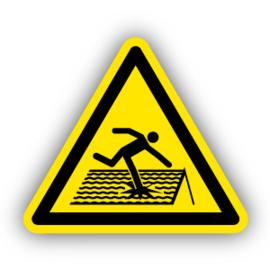 Stickers Instortingsgevaar dak (W036)