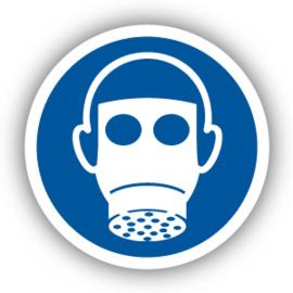 Stickers Ademhalingsbescherming verplicht (M017)