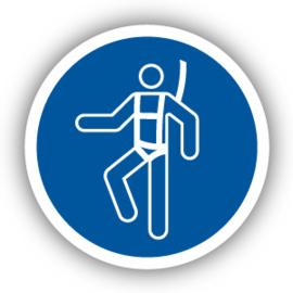 Stickers Individueel veiligheidsharnas verplicht (M018)