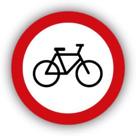 Stickers Verboden voor fietsen