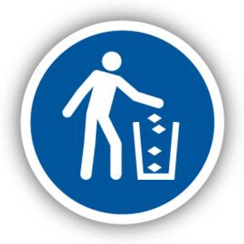Stickers Gebruik de afvalbak (M030)