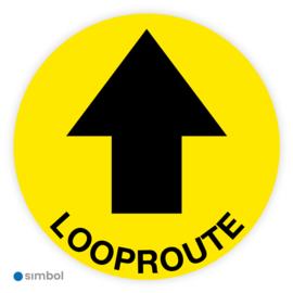 Vloerstickers Looproute met pijl