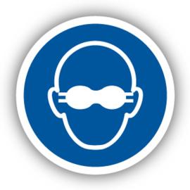 Stickers Dragen van opaak bril verplicht (M007)