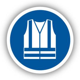 Stickers Veiligheidsjas met verhoogde zichtbaarheid verplicht (M015)