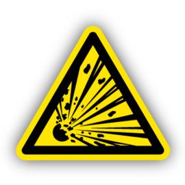 Stickers Explosieve stoffen (W002)