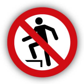 Stickers Verboden het oppervlak te betreden (P019)