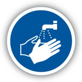 Stickers Handen wassen verplicht (M011)