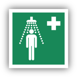 Stickers Veiligheidsdouche (E012)