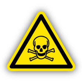 Stickers Giftige stoffen (W016)