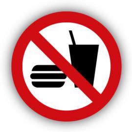 Stickers Eten en drinken verboden (P022)