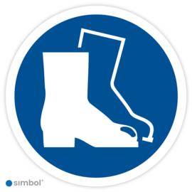 Stickers Veiligheidsschoenen Verplicht (M008)