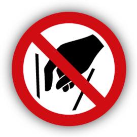 Stickers Verboden in vergaarbak te grijpen (P015)