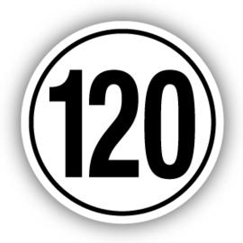 Tempostickers Maximaal 120 km per uur