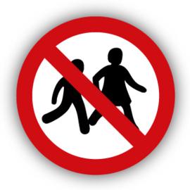 Stickers Kinderen niet toegestaan (P036)