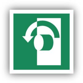Stickers Draai tegen de wijzers van de klok in om te openen (E018)