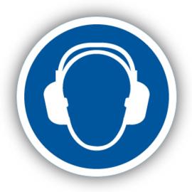 Stickers Gehoorbescherming verplicht (M003)