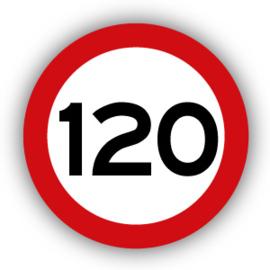 Stickers Maximaal 120 km per uur
