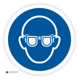 Pictogram Oogbescherming / Veiligheidsbril verplicht (M004)