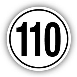 Tempostickers Maximaal 110 km per uur