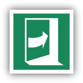 Stickers Duw aan de rechterkant om de deur te openen (E023)