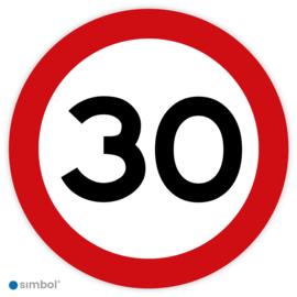 Simbol - Stickers 30 km - Maximaal 30 km/u - Duurzame Kwaliteit