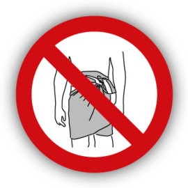 Stickers Verboden met handdoek