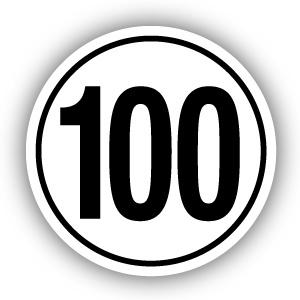 Tempostickers Maximaal 100 km per uur